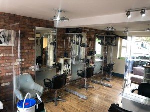 safety inside navenby hair salon during covid